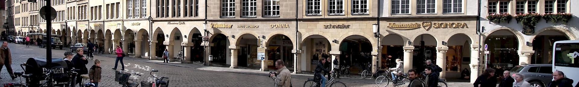 De prinzipalmarkt in de binnenstad van Münster