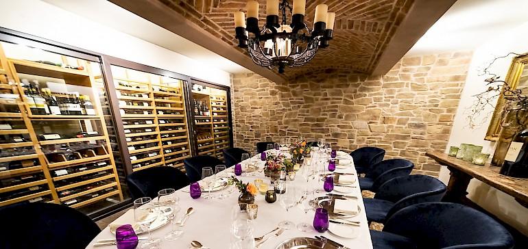 Dineren in de Wijnkelder