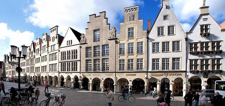De prinzipalmarkt in de binnenstad