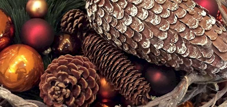 Kerstversiering in het hotel