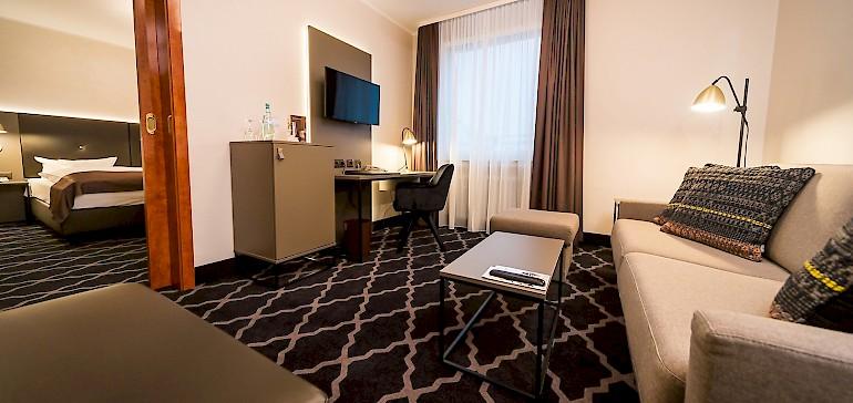 Voorbeeld van een woonkamer in een Suite