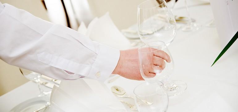 Puur genieten van het eten met een afgesproken wijnarrangement