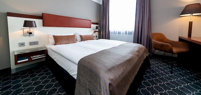 Voorbeeld van een standaard tweepersoonskamer