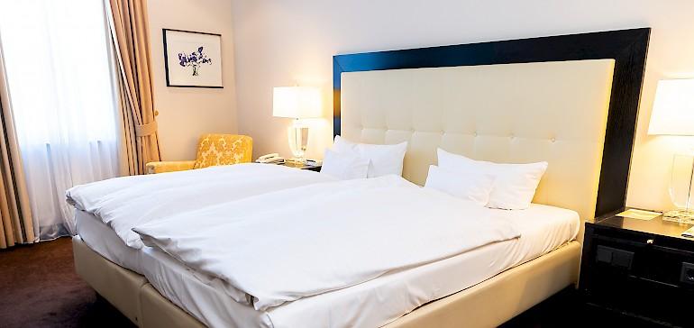 Voorbeeld van een slaapkamer in een kaisersuite