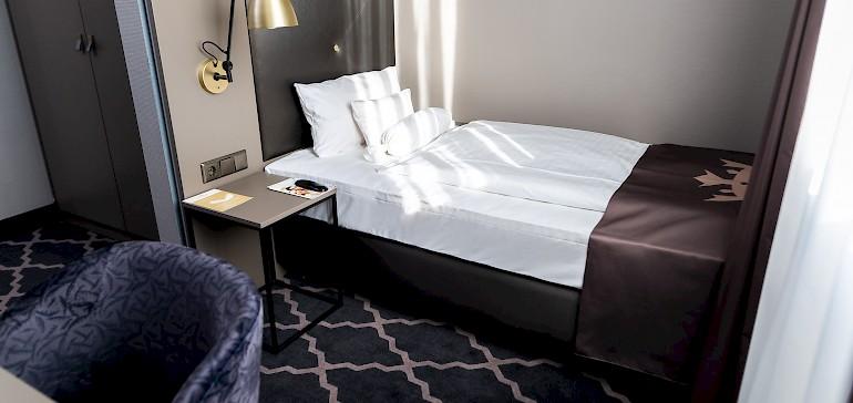Voorbeeld van een standaard eenpersoonskamer