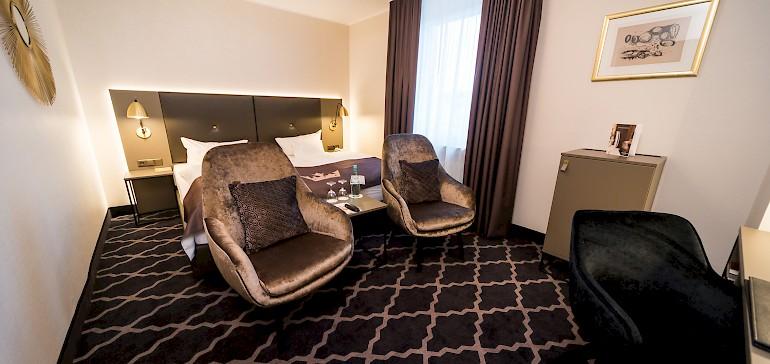 Voorbeeld van een deluxe tweepersoonskamer
